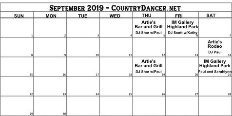 Line Dancing Events